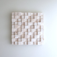 "Sale - rhythm - natural pine forest wall sculpture - 14.5""X14.5"""