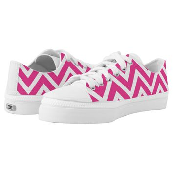 pink magenta chevron pattern girly shoes printed shoes