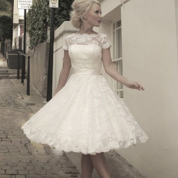 mz-sarah Short wedding dress
