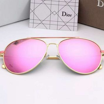 DIOR Stylish Ladies Simple Summer Sun Shades Eyeglasses Glasses Sunglasses Pink I-A-SDYJ
