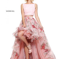 Sherri Hill 51098 Hi-Low Skirt Formal Prom Dress