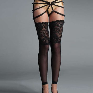 Fearless And Fun Female Thigh Highs With Lace Top And Lace Sock Part FAF-D292