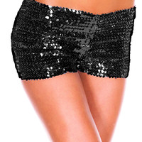 TITIVATE Women's Sequins Shorts Dance Performance Costume Shorts Full Sequin Hot Mini Clubbing Club Dancer