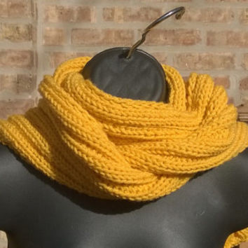 Ready to Ship - Knit Scarf - Womens Scarf - Mens Scarf - The Rib Scarf in Jonquil - 5ft long