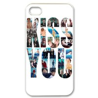 CTSLR Music and Singer Series Protective Hard Case Cover for iPhone 4, 4S - 1 Pack - One Direction - Kiss You