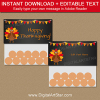 Thanksgiving Favors - Thanksgiving Favor Bags - PRINTABLE Thanksgiving Bag Toppers - Thanksgiving Baby Shower Favors - Thanksgiving Birthday