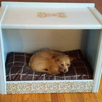 Solid Wood Cabinet Style Dog Bed