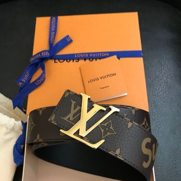 SUPREME LOUIS VUITTON MONOGRAM BELT SIZE 100