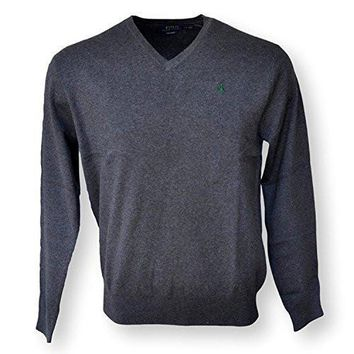 Ralph Lauren Men's Polo V-Neck Pima Cotton Pony Logo Sweater