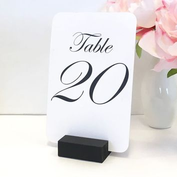 Table Number Holder Black Card Holder Wedding Card Holder 2 inch Set of 24 For Restaurants Weddings Banquets by Gallery360Designs