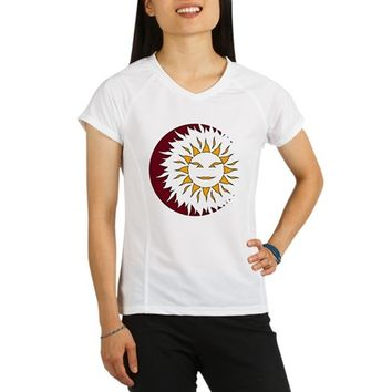 Smiling Sun Eclipse Performance Dry T-Shirt