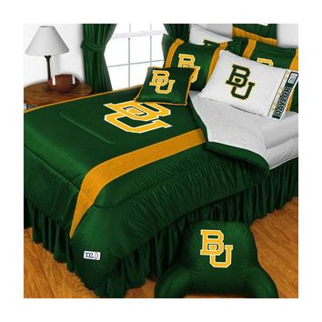 Baylor Bears Comforter and Pillowcase Set College Team Logo Bedding