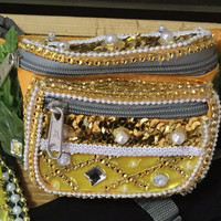Pineapples Fanny Pack: deep plunge, rave wear, festival, halloween