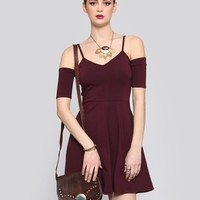 What a Flirt Mini Dress - Burgundy - Dresses - Clothes | GYPSY WARRIOR
