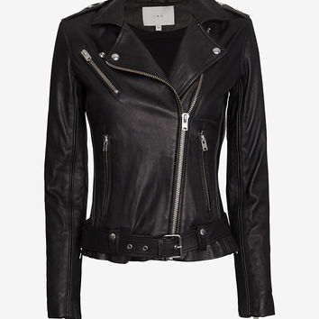 IRO EXCLUSIVE Tamie Belted Leather Jacket at INTERMIX | Shop Now | Shop IntermixOnline.com