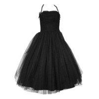 1950s Tulle & Rhinestone Cupcake Dress