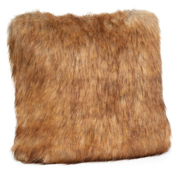 Tawny Fox Faux Fur Pillows by Fabulous Furs