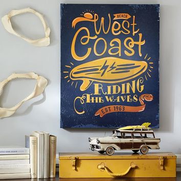 West Coast Riding Canvas Wall Art