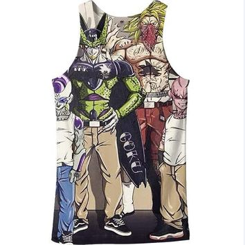Dragon Ball Z Graphic Summer Anime Tank Top V16