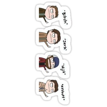 Supernatural - Cas, Dean, Bobby, Sam by Ladannnn
