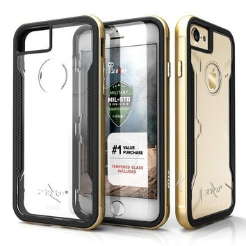 Zizo Shock Tempered Glass screen Protector Clear Case for apple iPhone 6 7 8