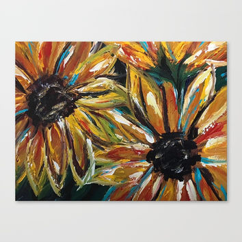 Sunflowers VII Canvas Print by Express Yourself Studios, LLC