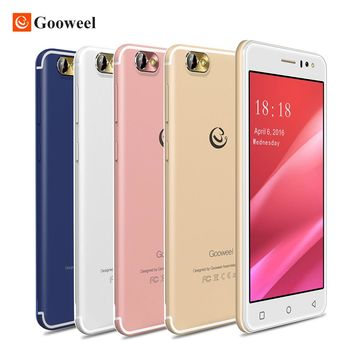 New Gooweel M7 3G Smartphone Android 5.1 5.5 inch IPS screen MTK6580 quad core Mobile phone GPS 1GB RAM 8GB ROM WCDMA Cell phone