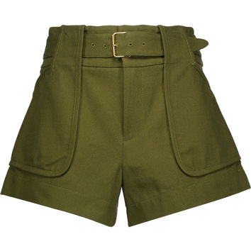 Belted cotton-canvas shorts | Derek Lam 10 Crosby | US | THE OUTNET