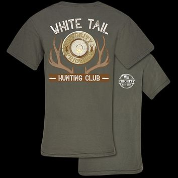 Couture Priority White Tail Hunting Club Comfort Colors Unisex T-Shirt
