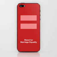 Stand for Marriage Equality iPhone & iPod Skin by Bluebird Design