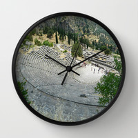 Theatre at Delphi Wall Clock by Kelli Schneider