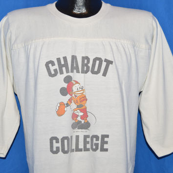 70s Chabot College Mickey Mouse Football t-shirt Large