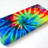 TIE DYE iphone 6 Plus case, rainbow iphone 6 Plus case, hippy case, colourful iphone 6 Plus cover, 90s grunge case, new iPhone 6 Plus Case