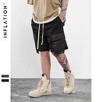 Men's Hightstreet Casual Shorts Streetwear Hip Hop Dance Clothes For Men Black /grey Cotton sweat jogger shorts