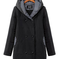 Hooded Long Sleeve Padded Coat