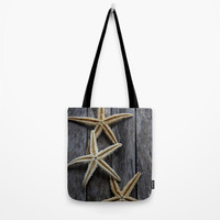 Starfishes in wooden Tote Bag by VanessaGF