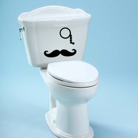 Toilet Decal Mustache Decal Unique Bathroom Toilet Decal Mustache Decoration