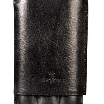 Savoy Cigar Cases Immensa 3 Finger Case Black