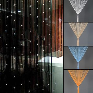 Beaded String Curtain Door Room Divider Tassel Screen Panel Home decoration