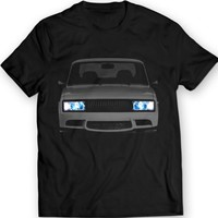 Lada VAZ 2105 T-shirt Tuning Riva Lights 100% Cotton Holiday Gift Birthday
