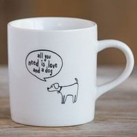Mug:  Love  And  A  Dog  Thought  Bubble  Mug    From  Natural  Life