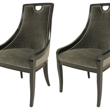 Taylor Burke Home, Charcoal Deco Chairs, Set of 2, Dining Chair Sets