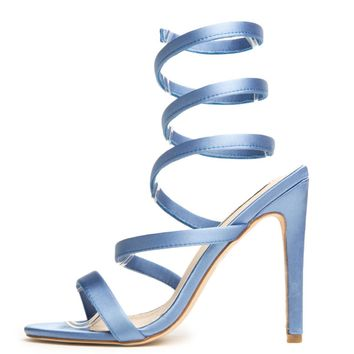 Cape Robbin Suzzy-59 Blue Women's High Heel