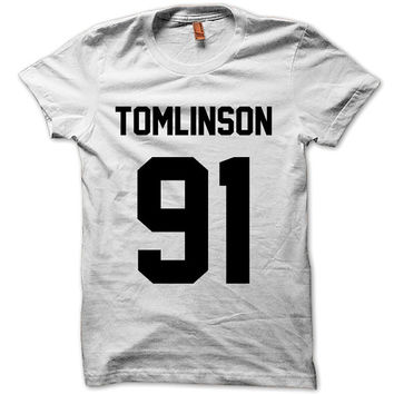 ONE DIRECTION Shirt Louis Tomlinson 91 T-Shirt Black White Gray Maroon Unisex T-Shirt Tee S,M,L,XL #1