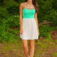Summer & The City Dress-Mint/White