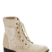 Walk on the Wildflower Side Boot in Cream