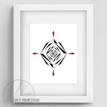 Original Art Print, Geometric Print, Art, Digital File, Wall Art, Black and White, Abstract, Modern Art, Graphic Design, Instant Download