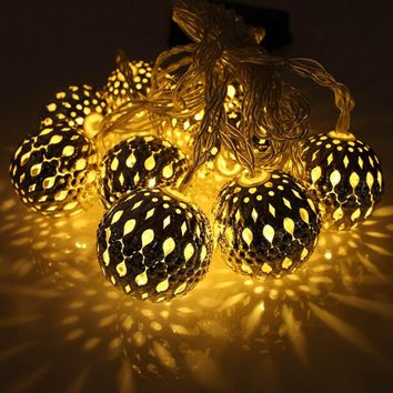 New Arrival 10 LED 1.2m Fairy String Lantern Lights Battery Operated Ball Star Heart Shape Home Christmas Garden Decoration Lamp