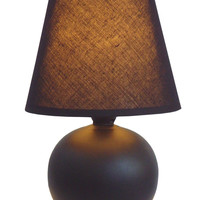 """All the Rages Ceramic Globe 8.66"""" H Table Lamp with Empire Shade"""
