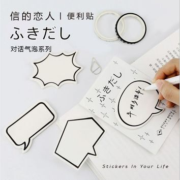 30Page/Pack Creative Dialog Box Boom Emotion Sticky notes Planner Accessories Tool Index Sticky Message Notes Scratch pad